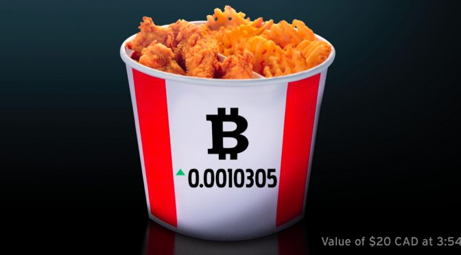 KFC Started To Accept Bitcoin in Canada (no punch line)