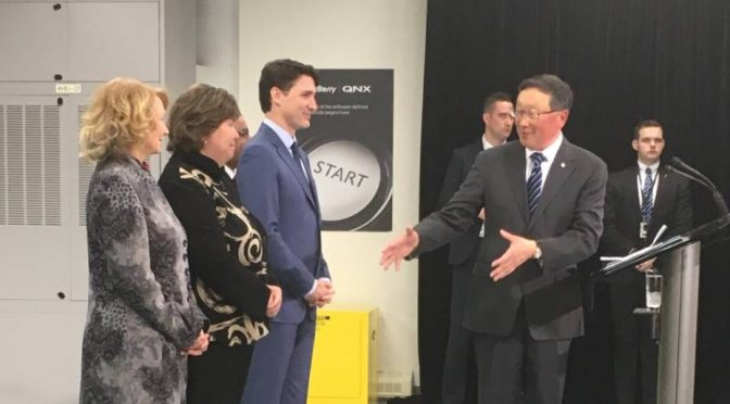 Blackberry to add 800 jobs in Ottawa, build self driving cars